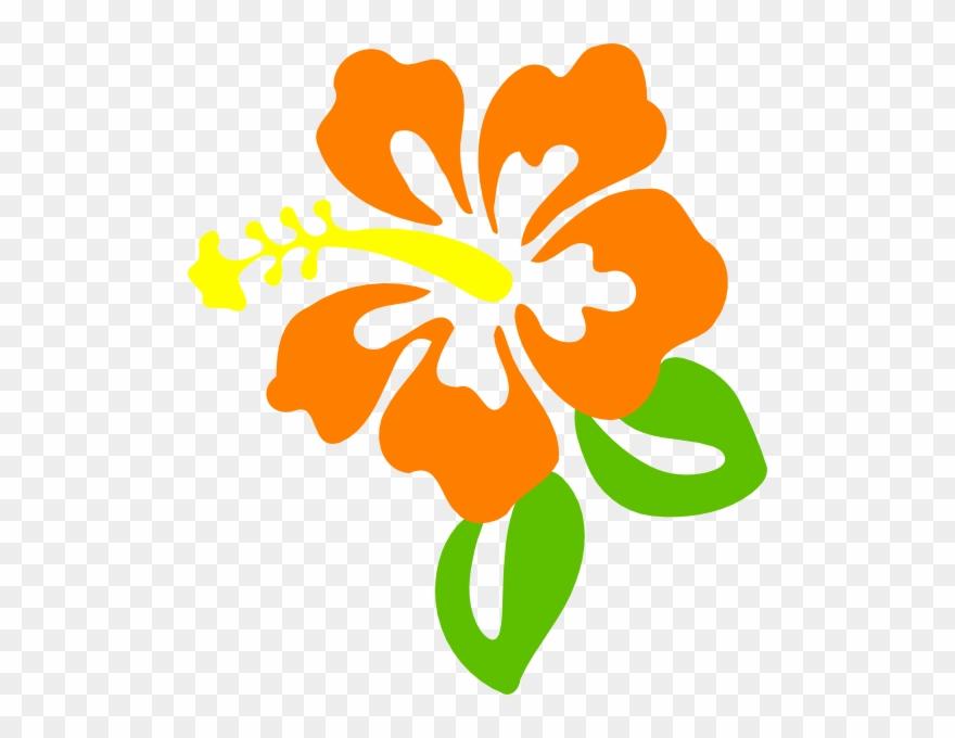 Orange Flower Clipart.