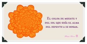 pintura flor de cempasuchil.