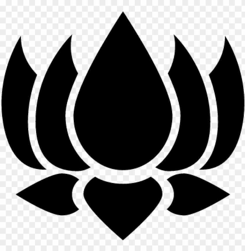 hinduist lotus flower vector.