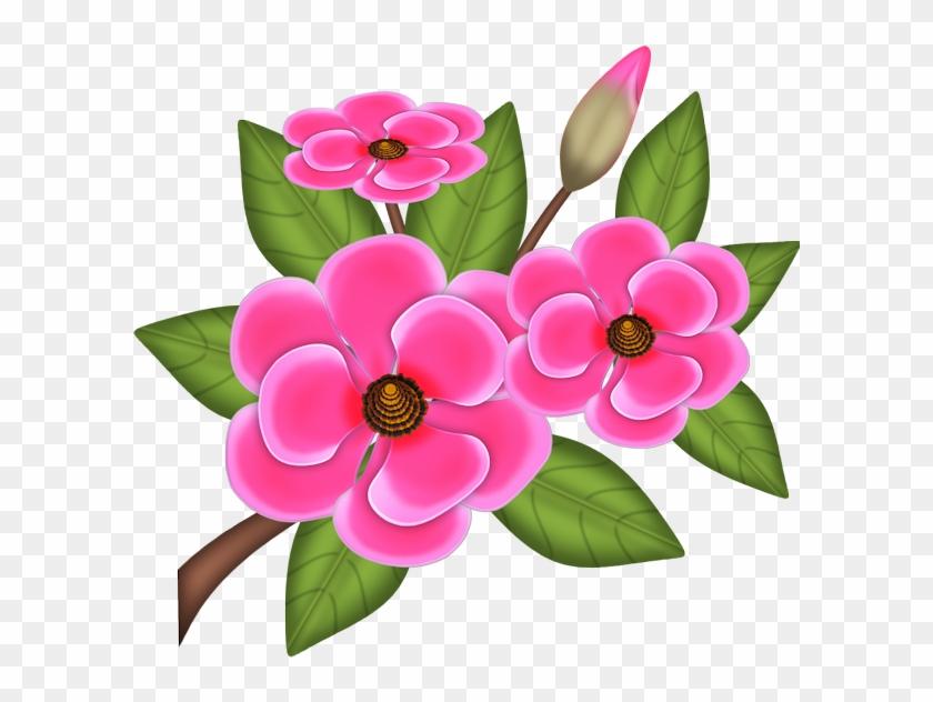 Flor Pink Png.