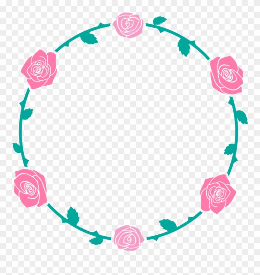 Circulo Flor Rosa Png Clipart (#3333331).