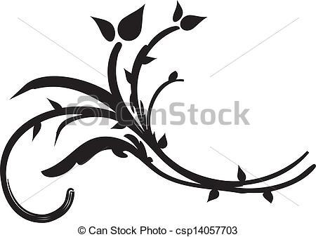 Vector Clip Art of Flora design number eleven. Nice design.