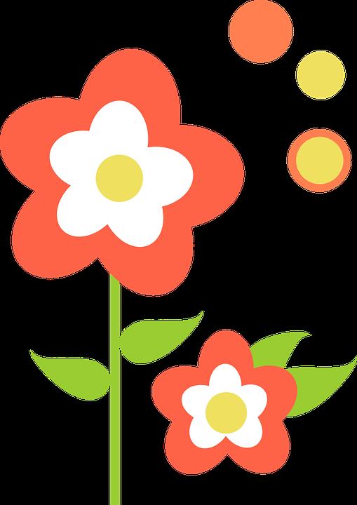 Free vector graphic: Leaf, Flowers, Orange, Floral.