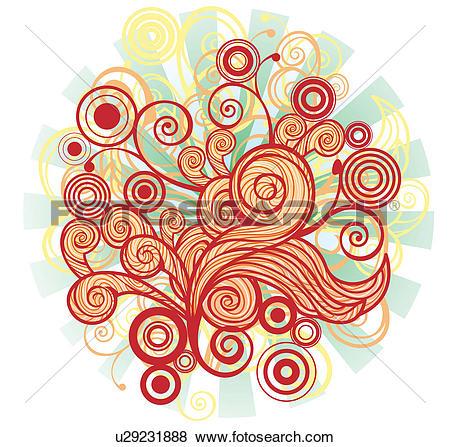 Stock Illustration of flora design elements u29231888.