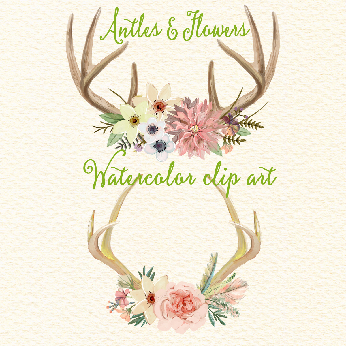 Free Flower Antler Cliparts, Download Free Clip Art, Free Clip Art.
