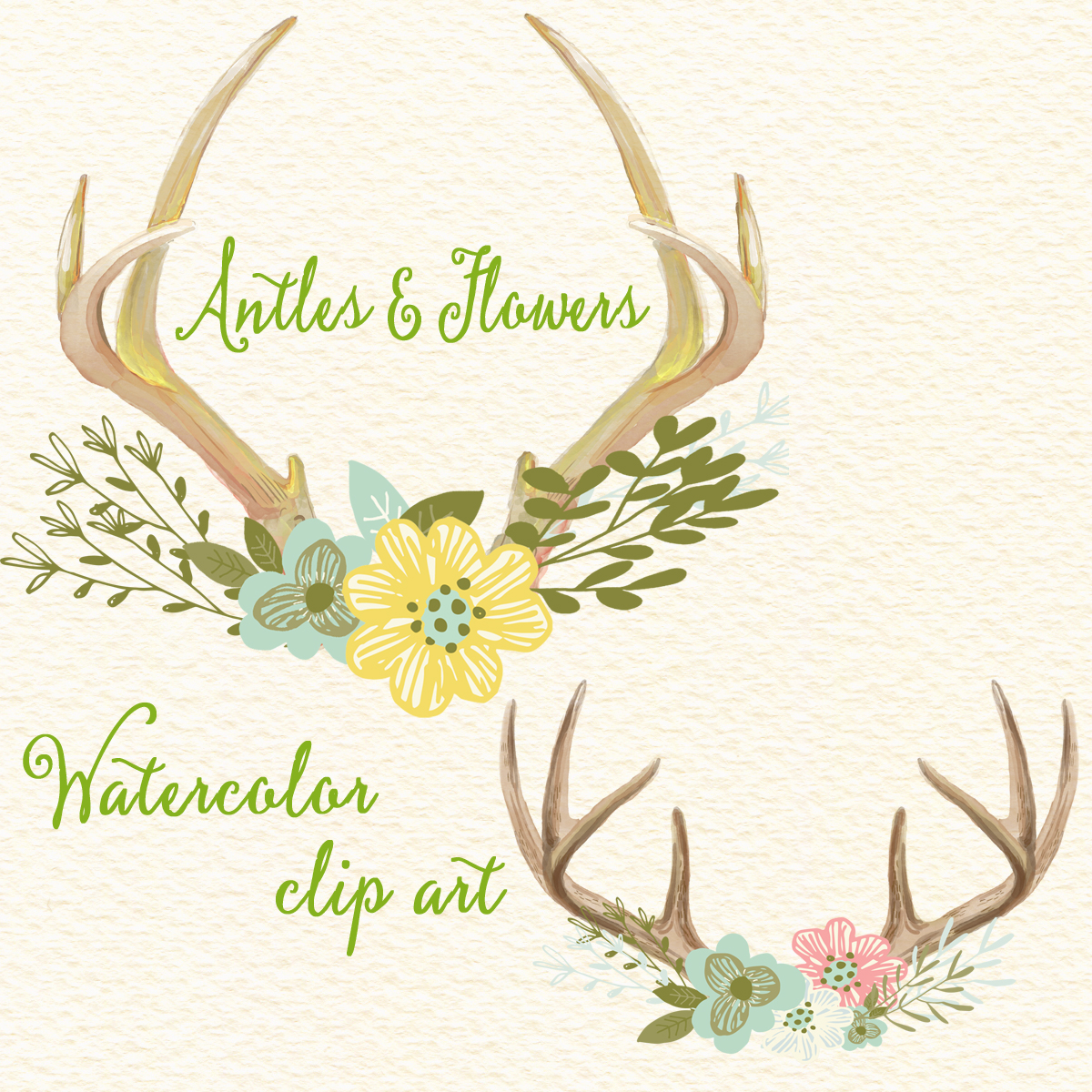 Antlers And Flowers.