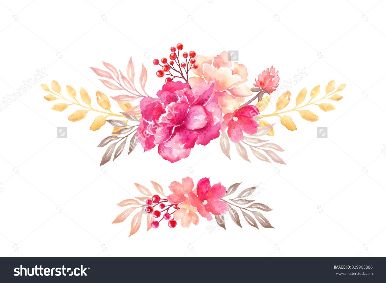 Floral Arrangement Flowers Bouquet Design Elements Stock.