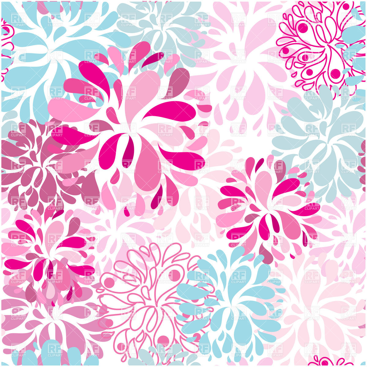Pink floral seamless background Stock Vector Image.