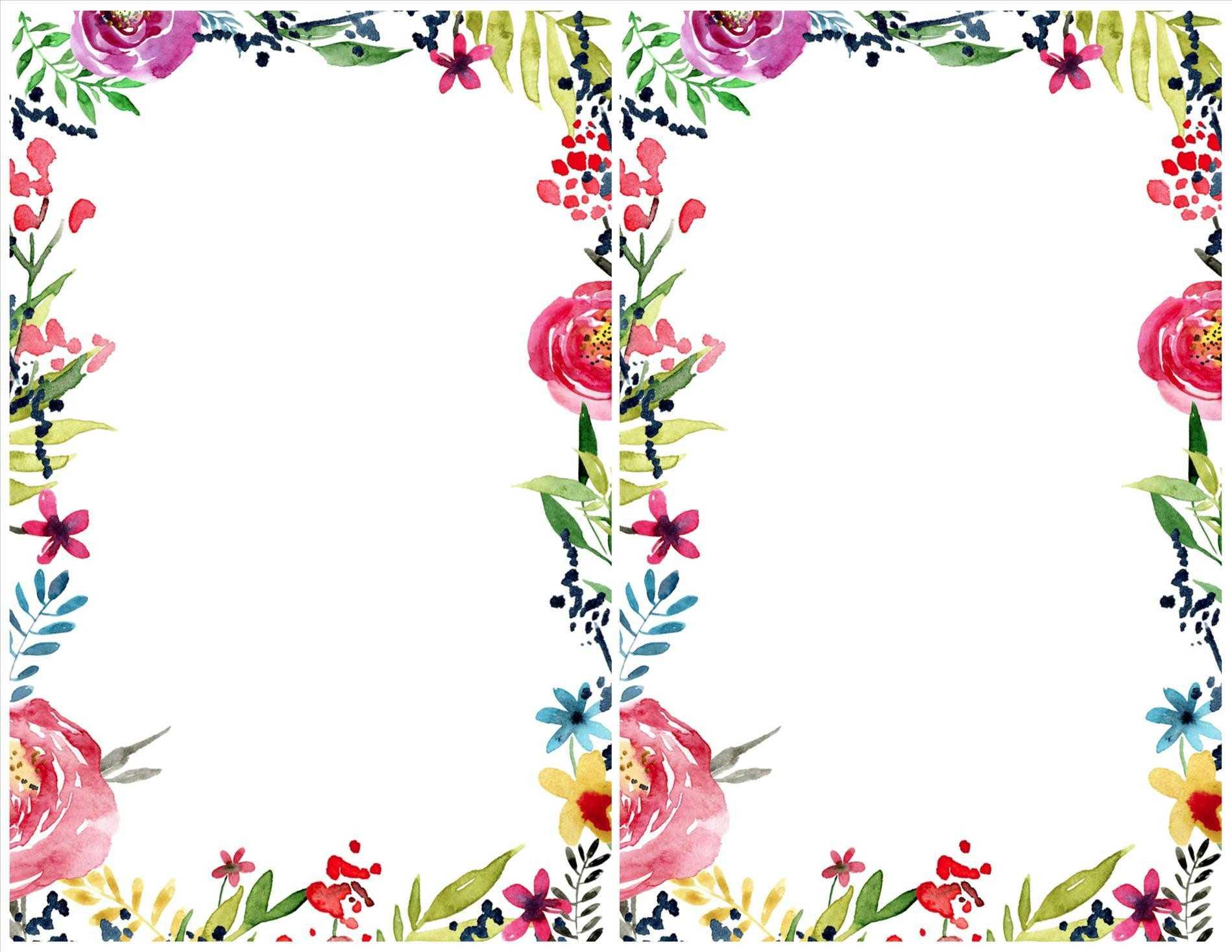 Flower border design clipart 7 » Clipart Station.