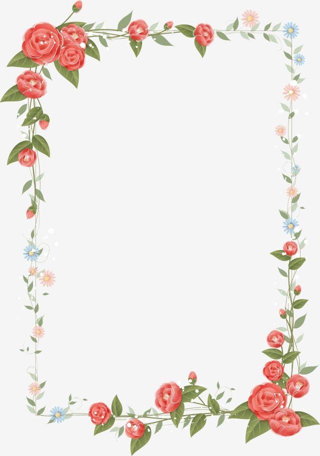 Floral Border Design Vector, Frame, Flower Frame, Flower Border PNG.