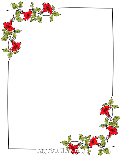 free flower borders for word document