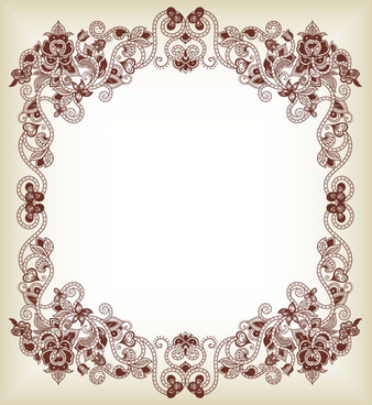 floral borders clipart #11