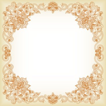 floral borders clipart #8
