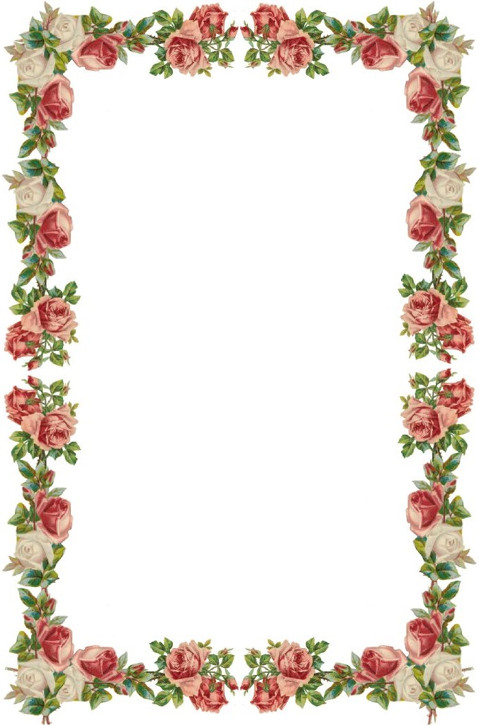 Floral borders clipart clipground for Flower borders for word