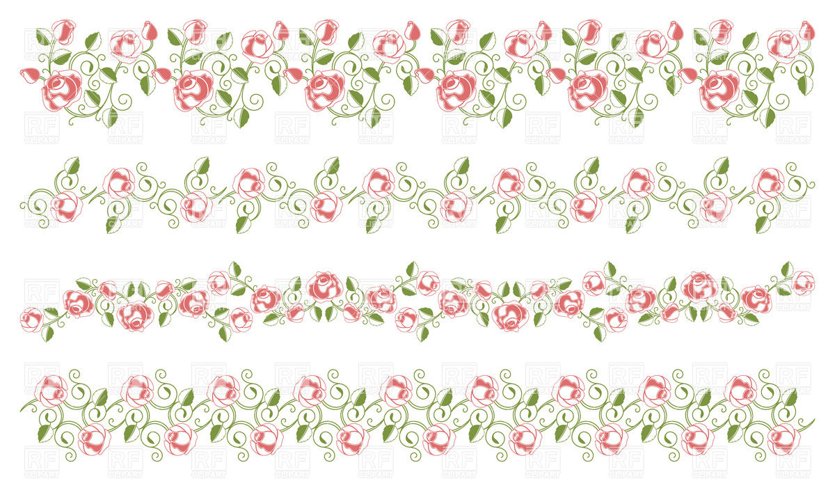 floral borders clipart #4