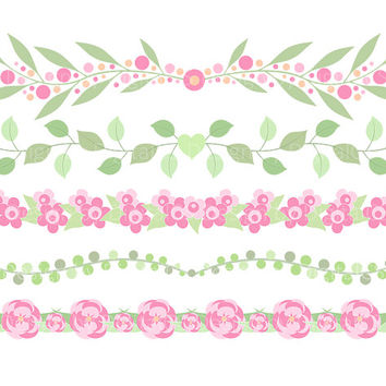 Shop Floral Borders Clipart on Wanelo.