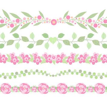 Shop Floral Borders Clipart on Wanelo.