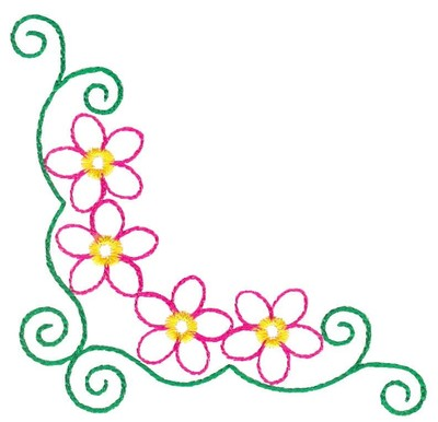 floral borders clipart #2