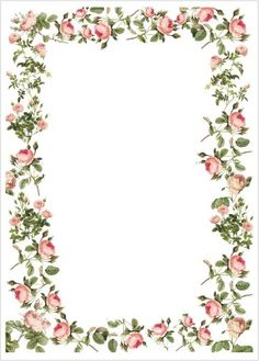 floral borders clipart #14