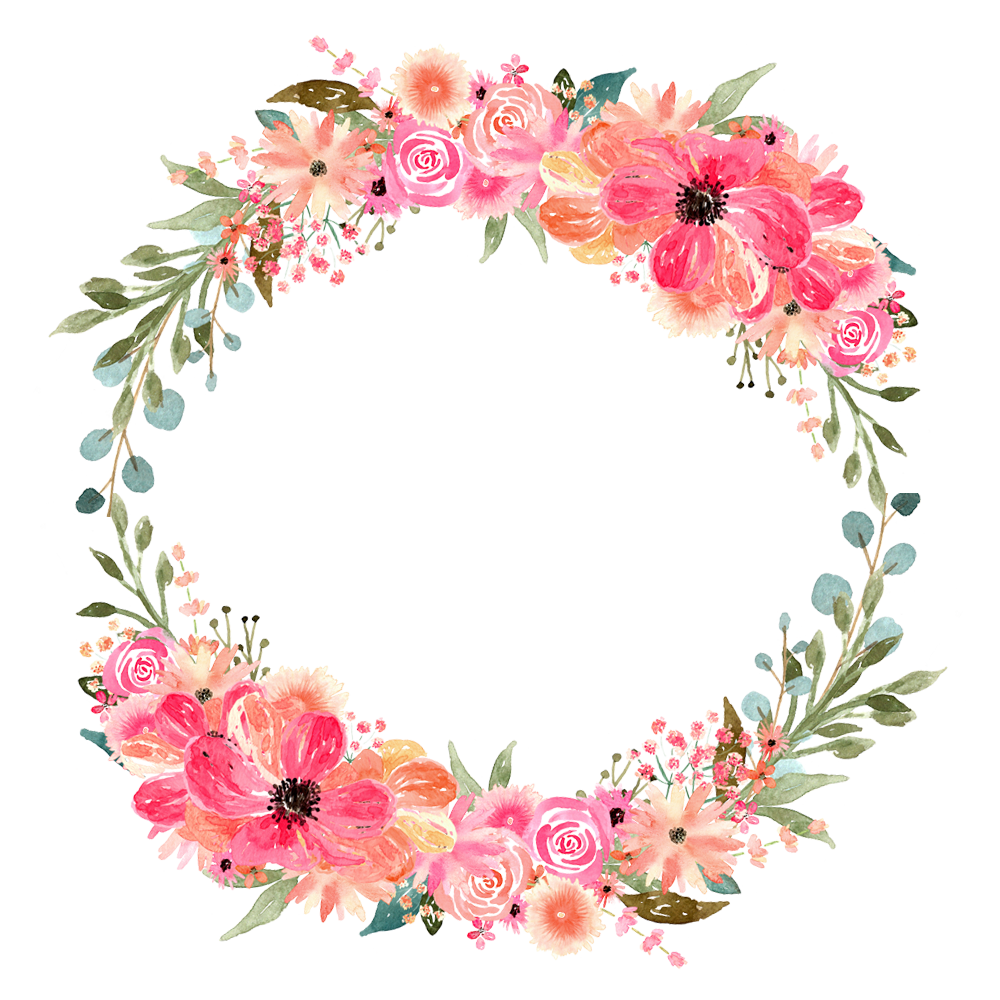 Floral circle design clipart images gallery for free download.