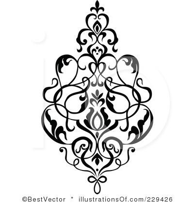 Floral clip art.