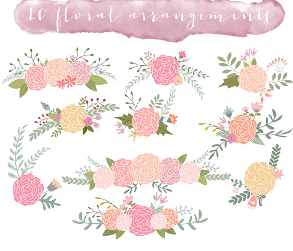 Free floral clip art images.