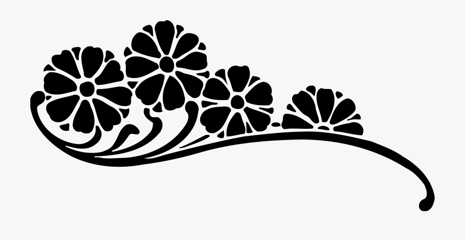 Black And White Flower Png.