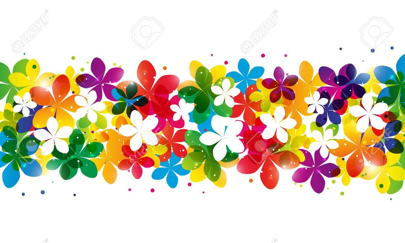Floral border for Your design.