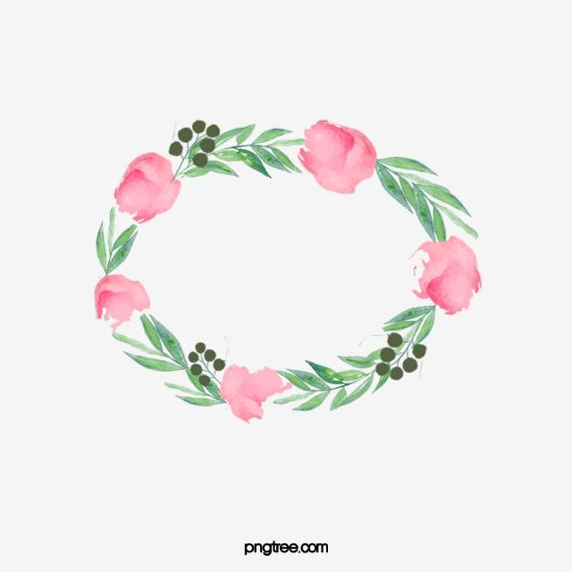 Floral Border Label, Label Clipart, Creative Flowers, Flower Label.