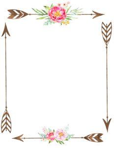 Free flower border template.