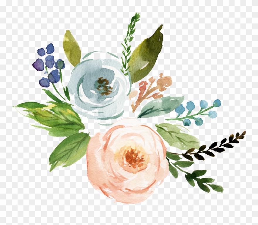 Fine Watercolor Flower Transparent.