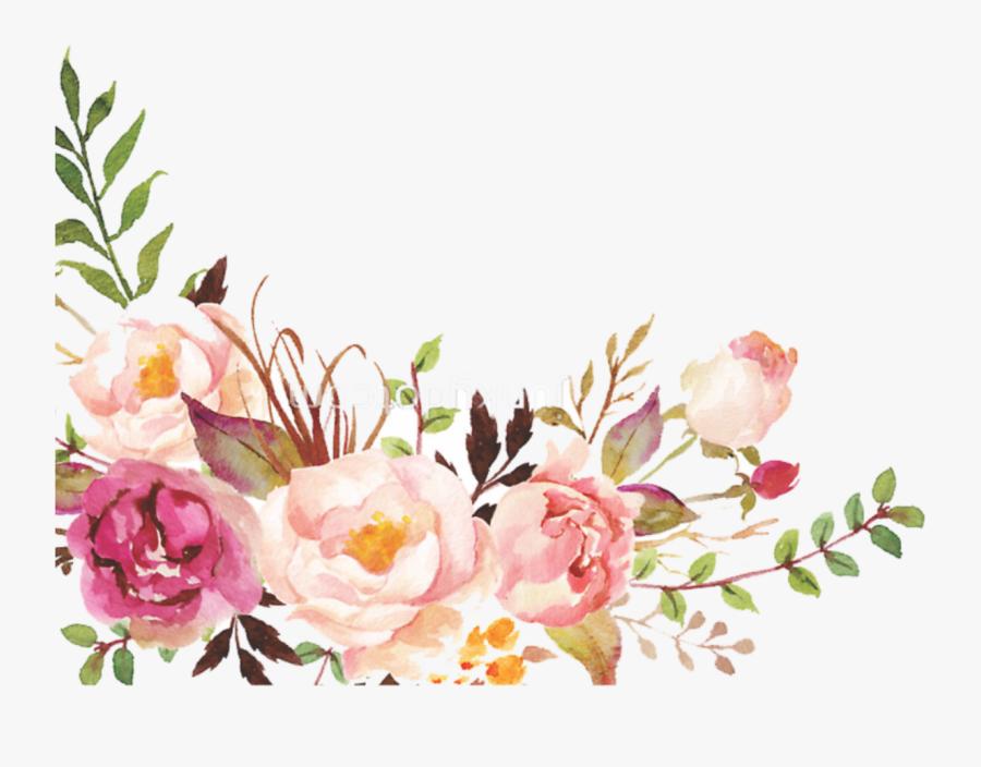 Watercolor Floral Border Paper Printable.
