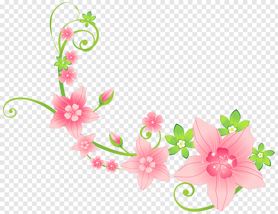 Flower Floristry, Pink Floral Decoration, green and pink.