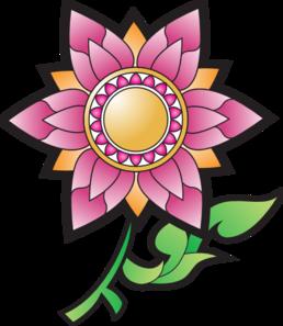 Floral decoration clip art.