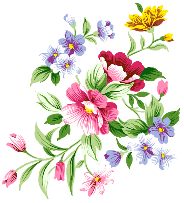 Flowers decor clipart #4