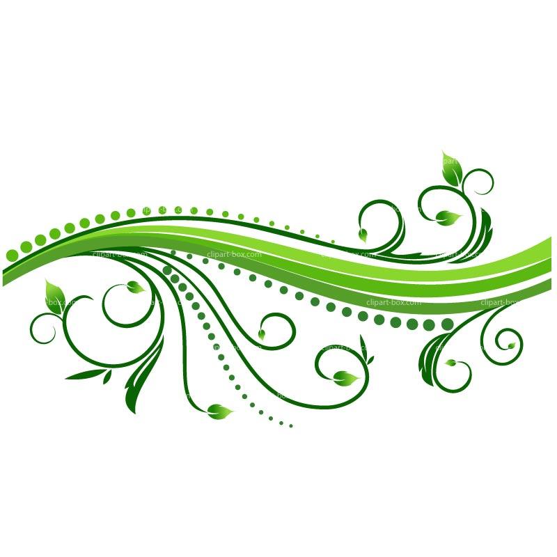 Растительные узоры клипарт