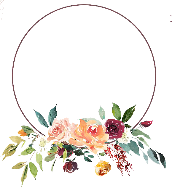 Floral Design PNG Photo Background.