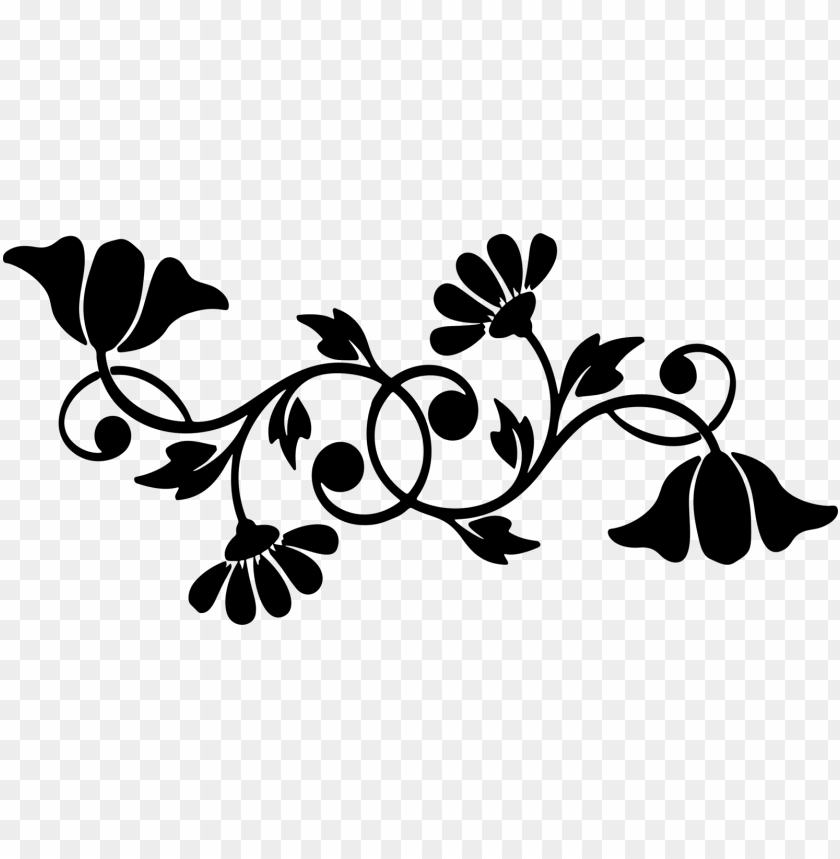 motif floral design decorative borders silhouette computer.