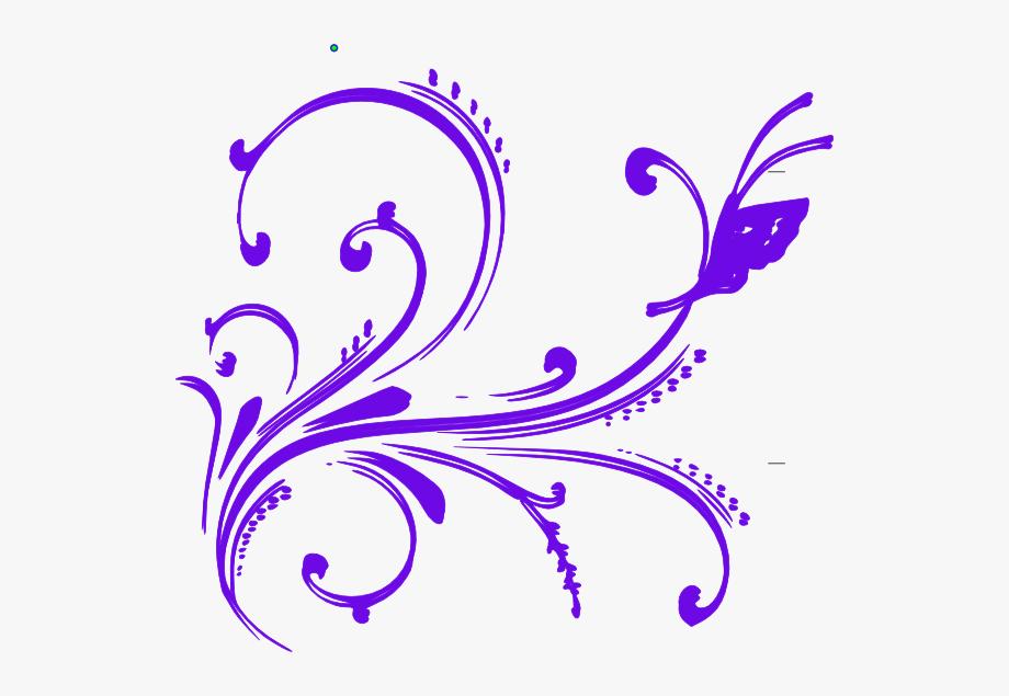 Purple Butterfly Flourish Clip Art At Clker.