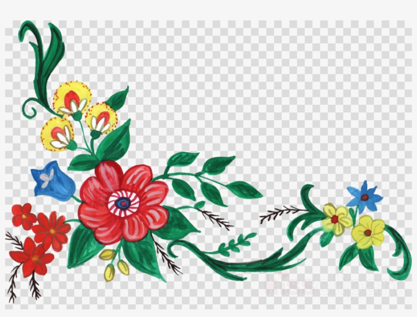 Download Flower Corner Design Png Clipart Floral Design.