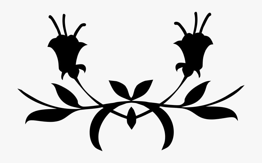 Floral Divider , Free Transparent Clipart.