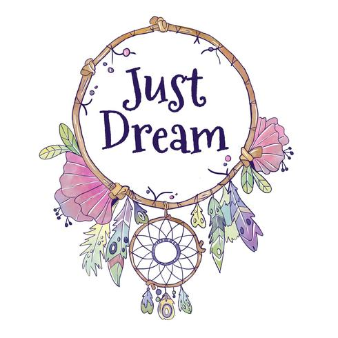 Cute Boho Dream Catcher With Quote.