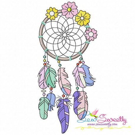 Floral Dream Catcher.