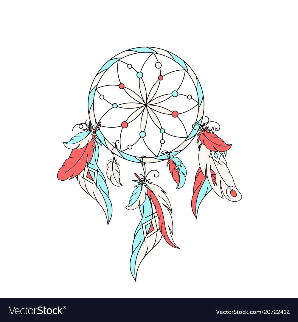 Dreamcatcher feathers.