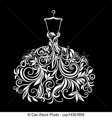 Floral gown Stock Illustrations. 833 Floral gown clip art images.