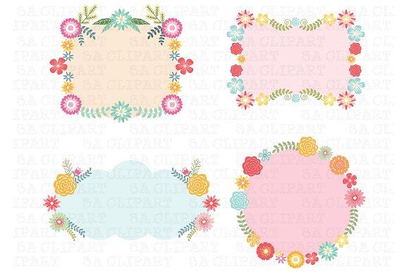 Wedding Floral Frame ClipArt ~ Illustrations on Creative Market.