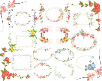 clipart flower borders and frames #12