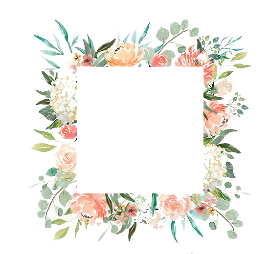 Free Romantic Watercolor Floral Frame PNG Vector, Clipart, PSD.