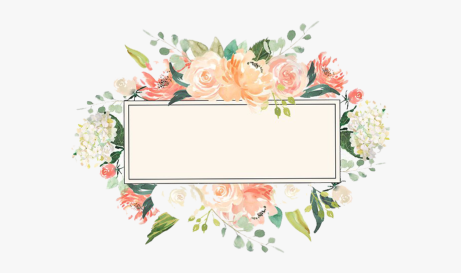 Watercolor Floral Frame Png Image Vector Clipart Psd.