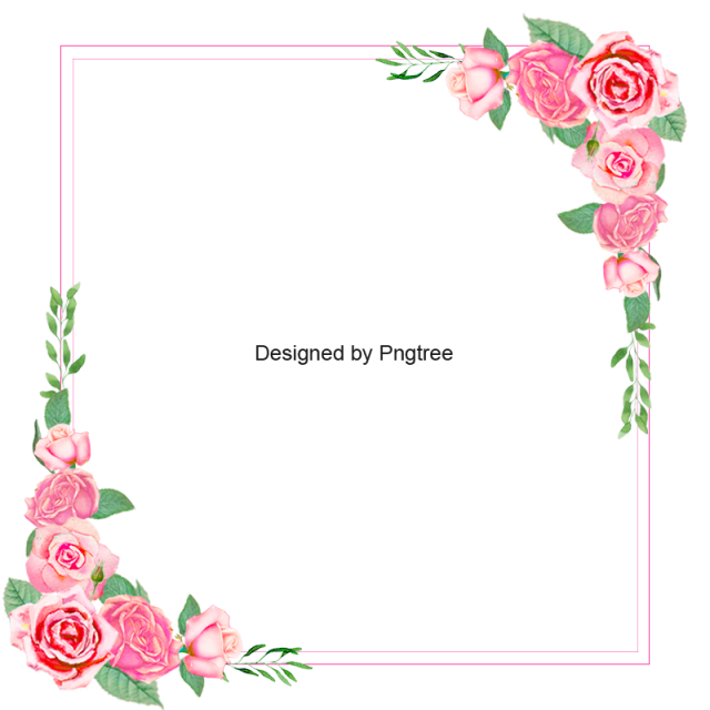 2019 的 Pink Rose Floral Frame, Pink, Rose Border, Frame Clipart PNG.